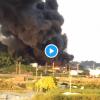 糸満市大里で火事。原因は放火?出火元は消防署付近のリサイクル工場「黒煙やばい」「爆発して灰が飛んでる」-沖縄