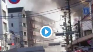 横浜市港北区で火事。「小机駅前で」「日産スタジアムの近くの工場が爆発」-神奈川県