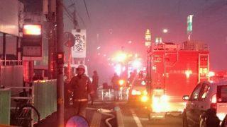 五日市で火事(広島市佐伯区美の里)。「煙がすごい」「やじうまの量すごい…」
